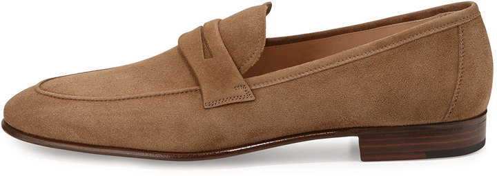 518bd01c9ce Gravati Suede Penny Loafer Taupe