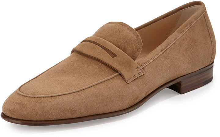 b90751d69be ... Tan Suede Loafers Gravati Suede Penny Loafer Taupe ...