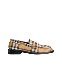 Burberry Vintage Check Cotton Penny Loafers
