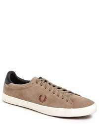 Tan Suede Low Top Sneakers