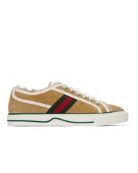 Gucci Beige Suede Tennis 1977 Low Top Sneakers