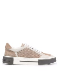 Eleventy Panelled Low Top Sneakers