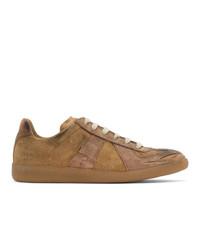 Maison Margiela Tan Distressed Replica Sneakers