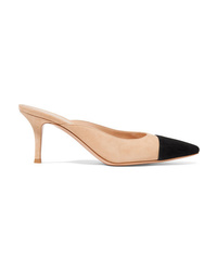 Gianvito Rossi Lucy 70 Two Tone Leather Slingback Pumps