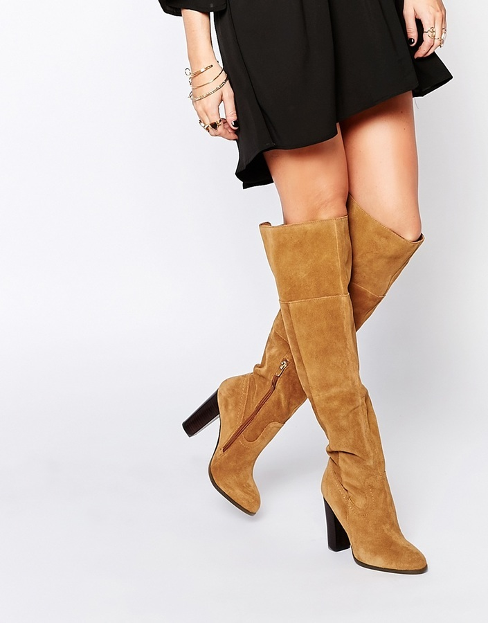 eb1ffd0a940 ... Aldo Bove Tan Leather Block Heeled Over The Knee Boots ...