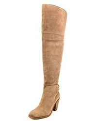 Jessica Simpson Cassina Round Toe Suede Tan Over The Knee Boot
