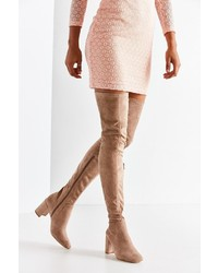 Jeffrey Campbell Cienega Tan Over The Knee Boot