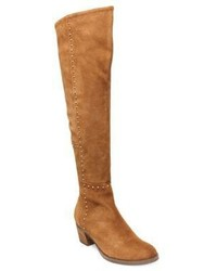 Design Lab Lord Taylor Odel Suede Studded Over The Knee Boots