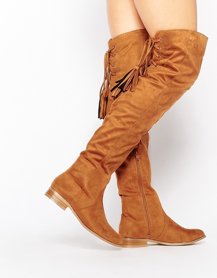 d7ebe76aae5 ... Missguided Flat Over The Knee Boot ...