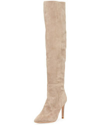 Olivia over the knee suede boot mousse tan medium 676346