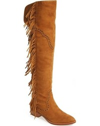 Ray fringe over the knee boot medium 784534