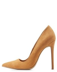 Charlotte Russe Faux Suede Pointed Toe Pumps
