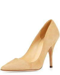 Kate Spade New York Licorice Suede Point Toe Pump Light Camel