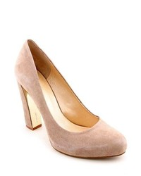 Nine West Desired Tan Suede Pumps Heels Shoes Newdisplay Uk 7