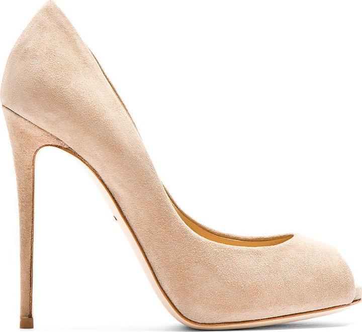 footlocker finishline online cheap 2014 newest Dolce & Gabbana Suede Peep-Toe Pumps vYzjcsr4XG