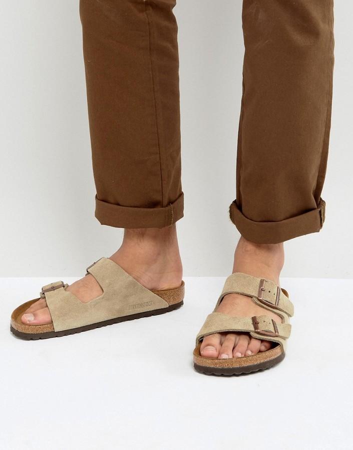 b7b479a03 Birkenstock Arizona Suede Sandals In Taupe, $111 | Asos | Lookastic.com