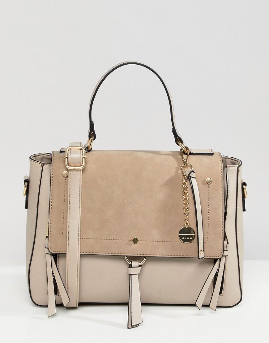 f033b058f53 Aldo Gochnauer Cream Handheld Tote Bag With Tassel And Zip Detail ...