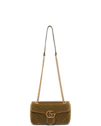 Gucci Tan Velvet Small Gg Marmont 20 Bag