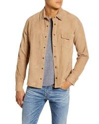 Billy Reid One Pocket Suede Shirt Jacket