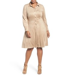 Plus size faux suede shirtdress medium 817356