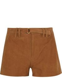Frame Suede Shorts Camel