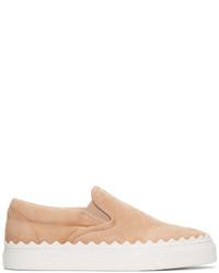 Chloé Beige Ivy Slip On Sneakers