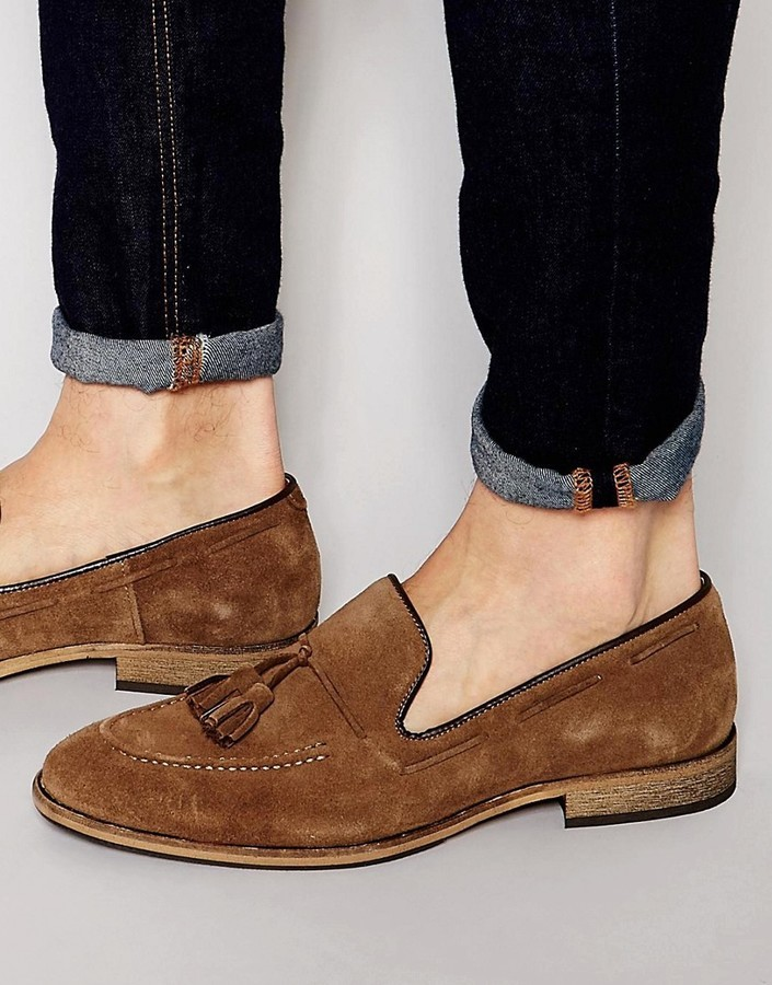 Selected Homme Ley Suede Tassel Loafers