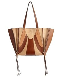 Chloe medium milo calfskin leather suede tote beige medium 3692051