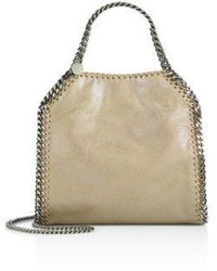 Stella McCartney Falabella Mini Baby Bella Metallic Faux Suede Tote