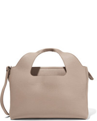 The Row Two For One 12 Leather And Suede Tote Sand