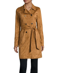 Ana ana belted faux suede trench jacket medium 874380