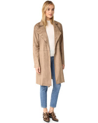 Ariana faux suede trench coat medium 835045