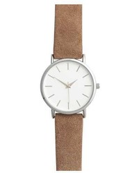 H&M Wristwatch With Suede Strap