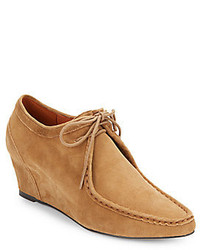 Gentle Souls Suede Wedge Ankle Boots