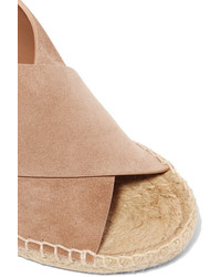 20d3daa5da Vince Sabrina Suede Espadrille Wedge Sandals Us6, $295 | NET-A ...