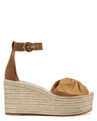 Valentino Tropical Bow Suede Wedge Sandals