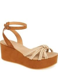 Topshop Weave Platform Wedge Sandal