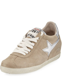 Guepard star wedge sneaker taupe medium 4415624