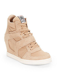 Suede canvas wedge high top sneakers medium 318242