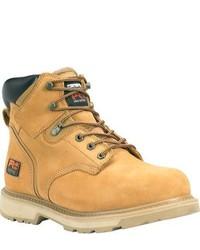 Timberland Pit Boss 6 Steel Toe Wheat Nubuck Boots