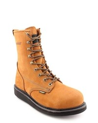 Wolverine Durashock Tan Narrow Nubuck Leather Work Boots