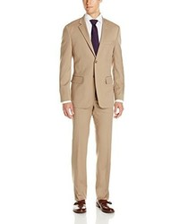 Nautica Two Piece Classic Fit Suit With Two Button Side Vent Jacket And Pant