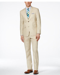 Perry Ellis Portfolio Tan Slim Fit Suit