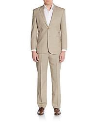 Saint Laurent Modern Fit Plaid Check Wool Suit