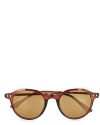 Topman 45mm Round Sunglasses Light Brown