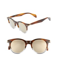 Rag & Bone 49mm Round Sunglasses