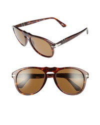 Persol 54mm Polarized Keyhole Retro Sunglasses