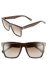 Marc Jacobs 54mm Square Frame Sunglasses Black