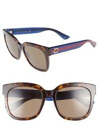 Gucci 54mm Sunglasses Blonde Havana Green