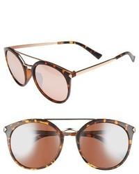 55mm Mirrored Sunglasses Black Gold